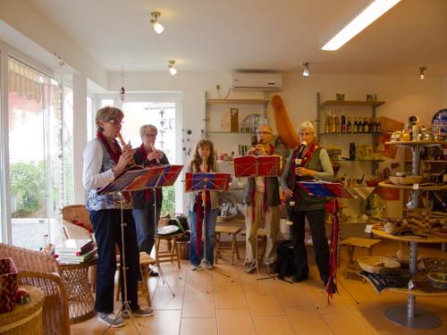 Bickenbacher Flötenchor im Weltladen